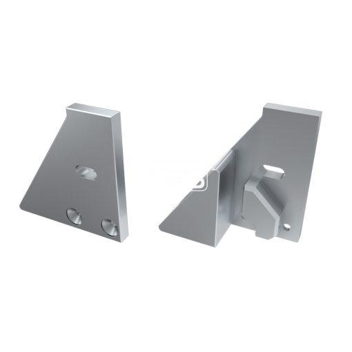Alumínium Végzáró I6 alumínium profilokhoz Ezüst Jobbos Lyukas Támasztékos