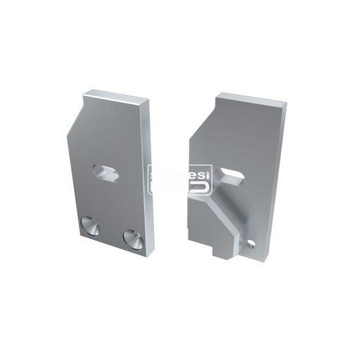 Alumínium Végzáró I6 alumínium profilokhoz Ezüst Jobbos Lyukas Támaszték nélküli