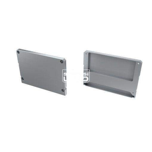 Alumínium Végzáró M1+LARGO típusú led profilokhoz Ezüst