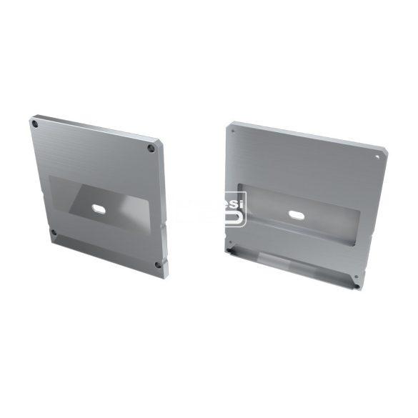 Alumínium Végzáró M2+LARGO típusú led profilokhoz Ezüst Lyukas