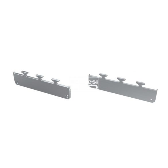 Alumínium Végzáró M1 LARGO típusú led profilokhoz Ezüst