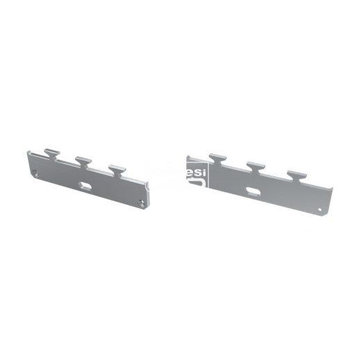 Alumínium Végzáró M1 LARGO típusú led profilokhoz Ezüst Lyukas