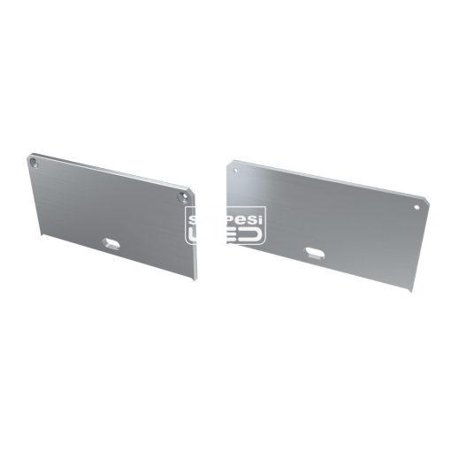 Alumínium Végzáró M2 LARGO típusú led profilokhoz Ezüst Lyukas