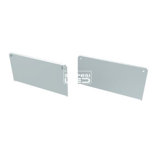 Alumínium Végzáró M2 LARGO típusú led profilokhoz Fehér