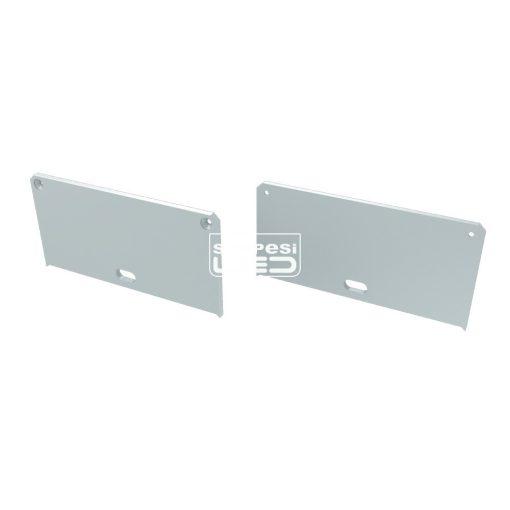 Alumínium Végzáró M2 LARGO típusú led profilokhoz Fehér Lyukas