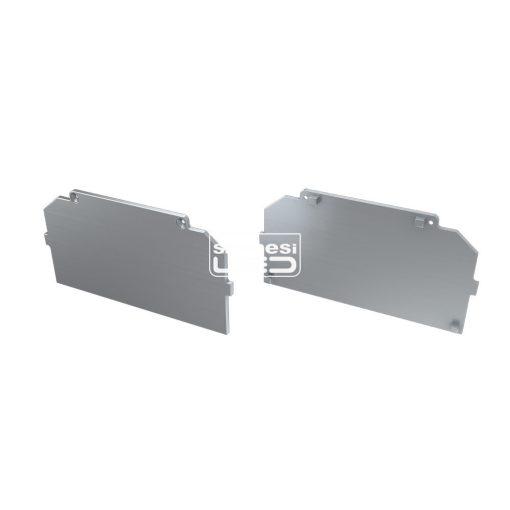 Alumínium Végzáró M4 LARGO típusú led profilokhoz Basic Ezüst