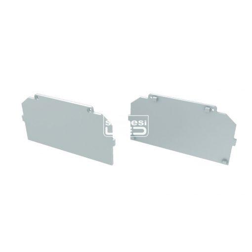Alumínium Végzáró M4 LARGO típusú led profilokhoz Basic Fehér