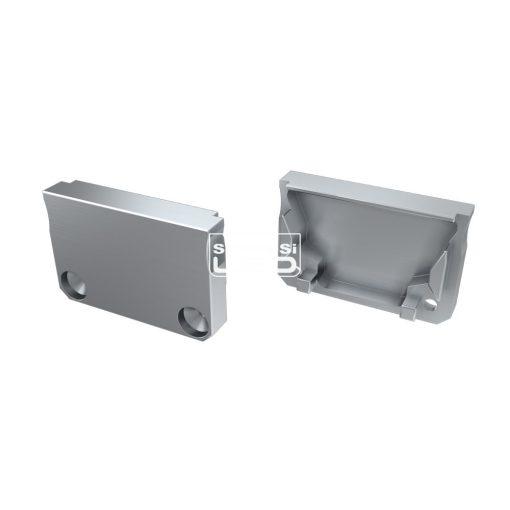 Alumínium Végzáró SILEDA típusú led profilokhoz Ezüst Teli