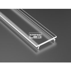 Átlátszó PVC takaróprofil 2 méteres profilhoz